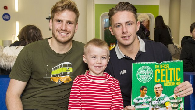 Celtic players visit The Royal Hospital for Children