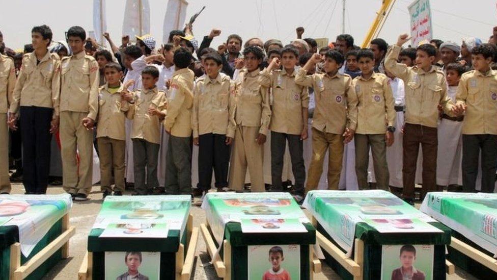 غارة جوية شمالي اليمن أوائل هذا الشهر قتلت أكثر 40 طفلا