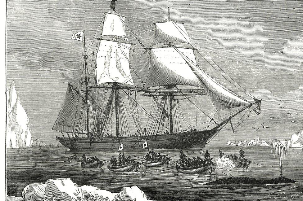 Una ilustración de un barco mercante