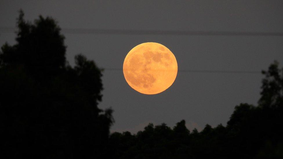 Eclipse lunar visto desde Israel.