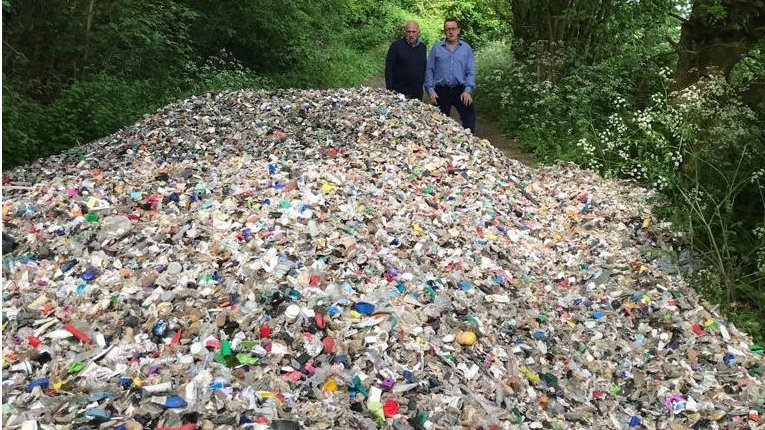Man held over large-scale fly-tipping in southern England