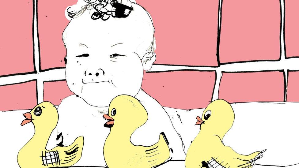 Ilustración de una bebé