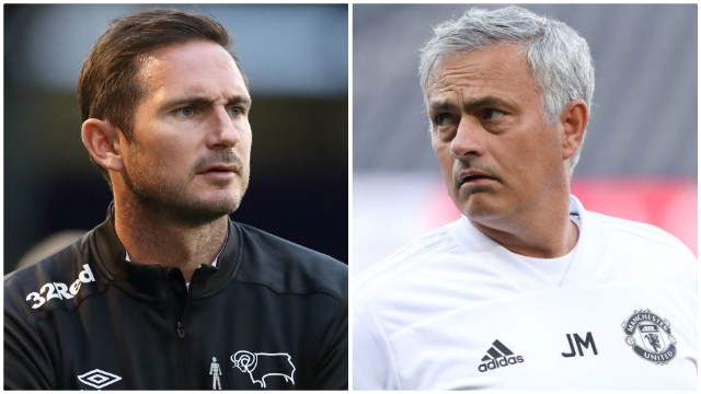 Derby boss Lampard relishing reunion with 'hugely influential' Mourinho
