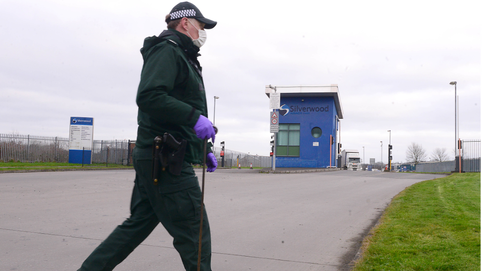 Police searching industrial estate
