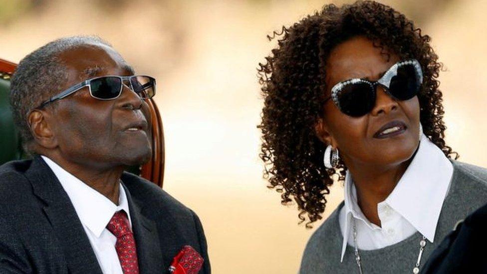 غريس موغابي وزوجها