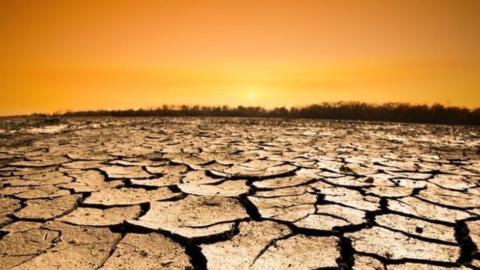 Terreno quebradizo por una sequía