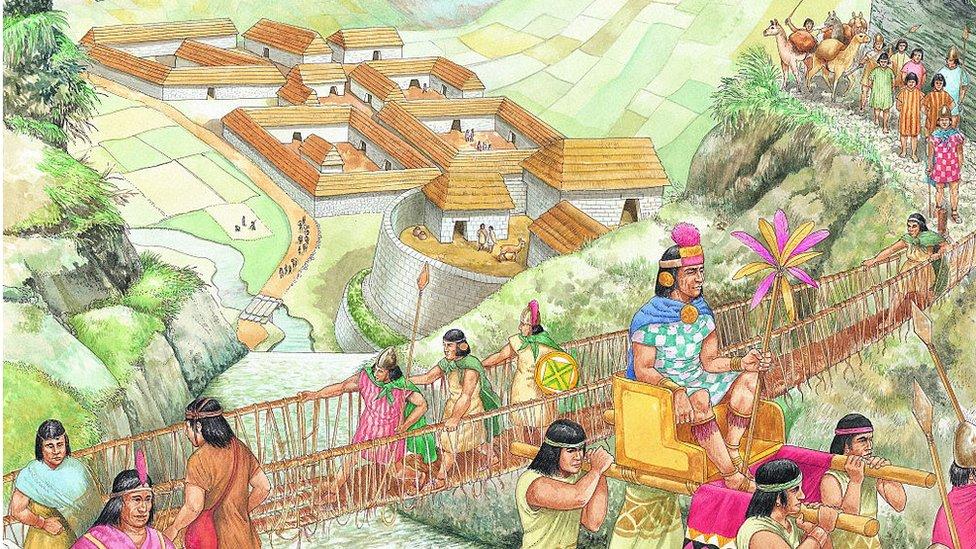 dibujo sobre incas