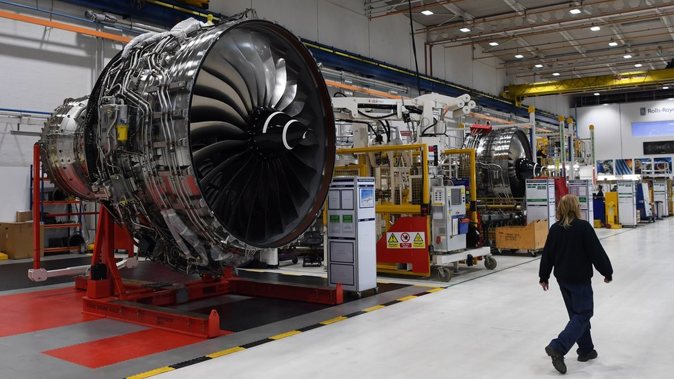Rolls Royce Trent engine at Derby