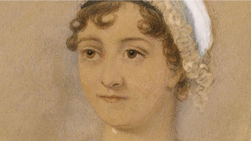James Andrews, Jane Austen, watercolour over pencil, 1869