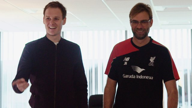 Dan Walker and Jurgen Klopp