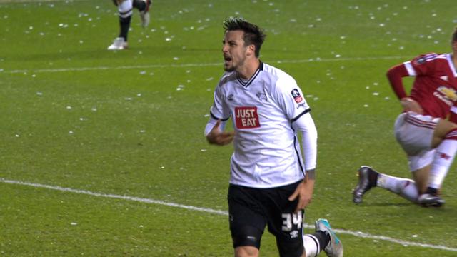 FA Cup: George Thorne brings Derby level v Man United