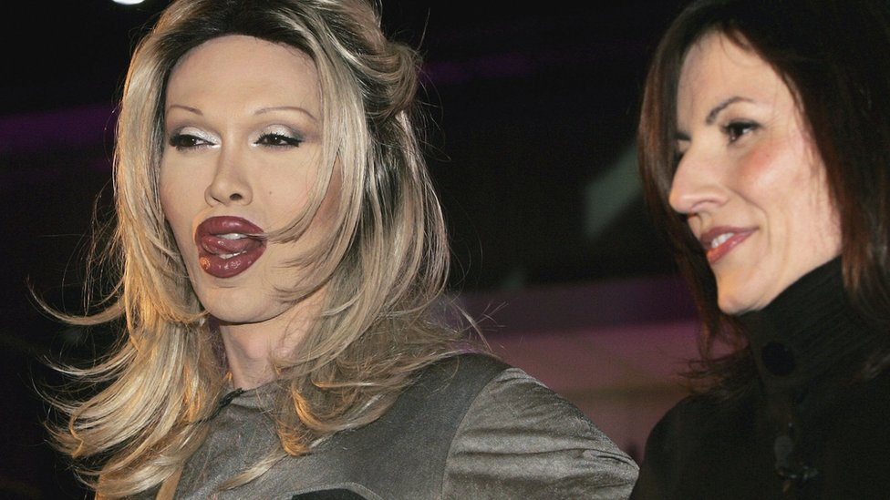 Pete Burns and Davina McCall on Celebrity Big Brother