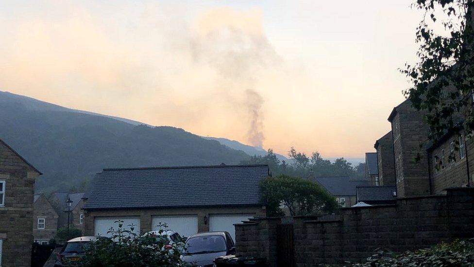 Moorland fire