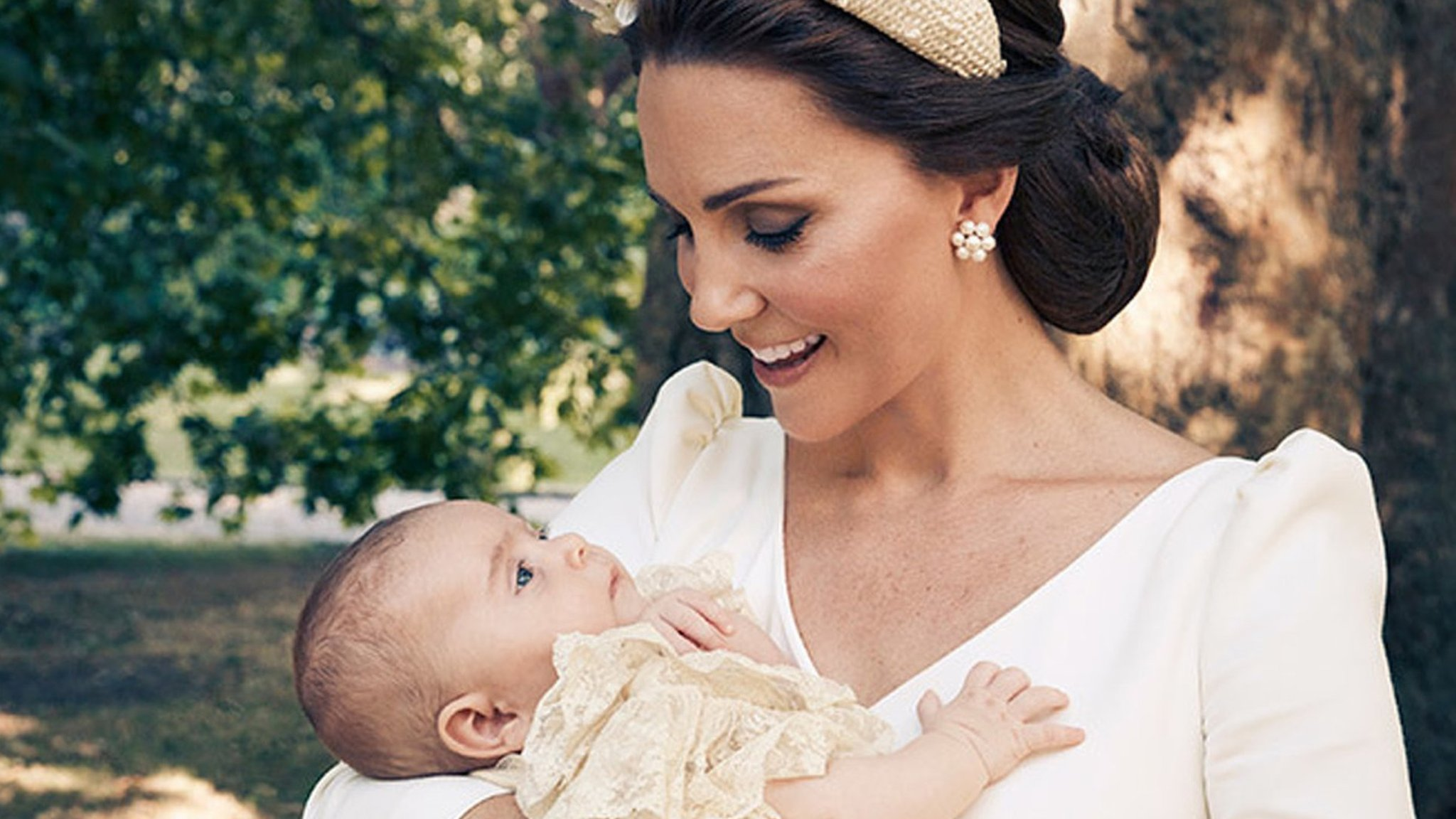 Prince Louis's christening marked by family portraits