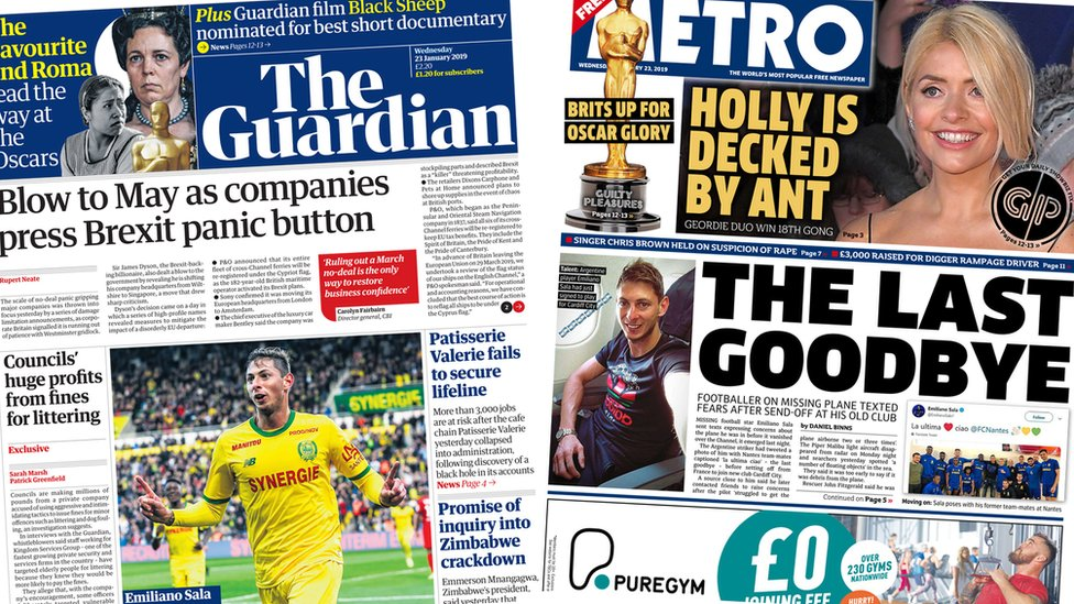 The Papers: Fears for footballer and Brexit 'panic'