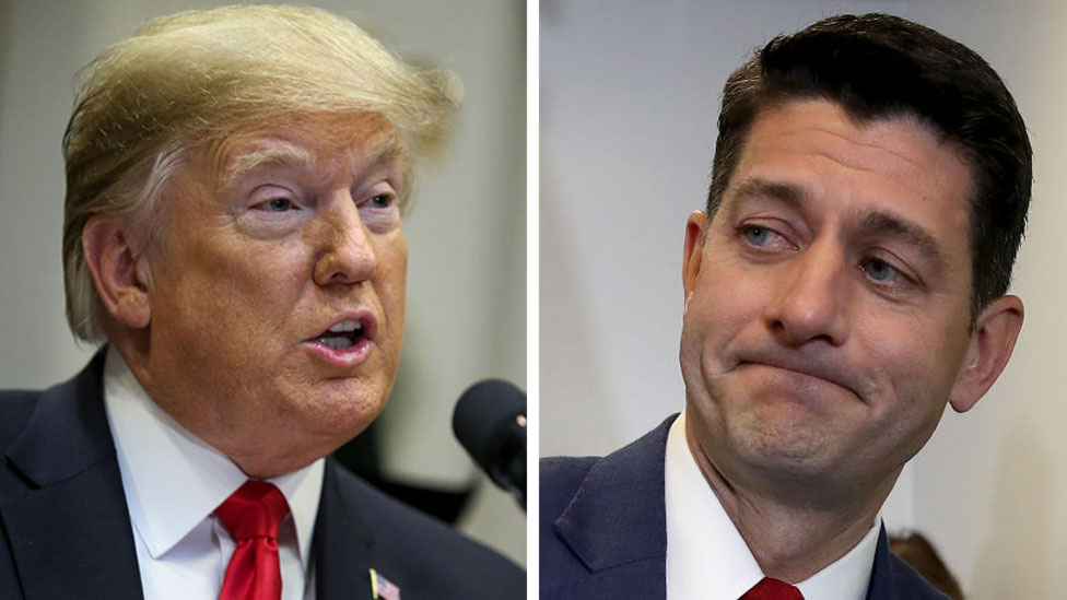 Composite of Donald Trump and Paul Ryan