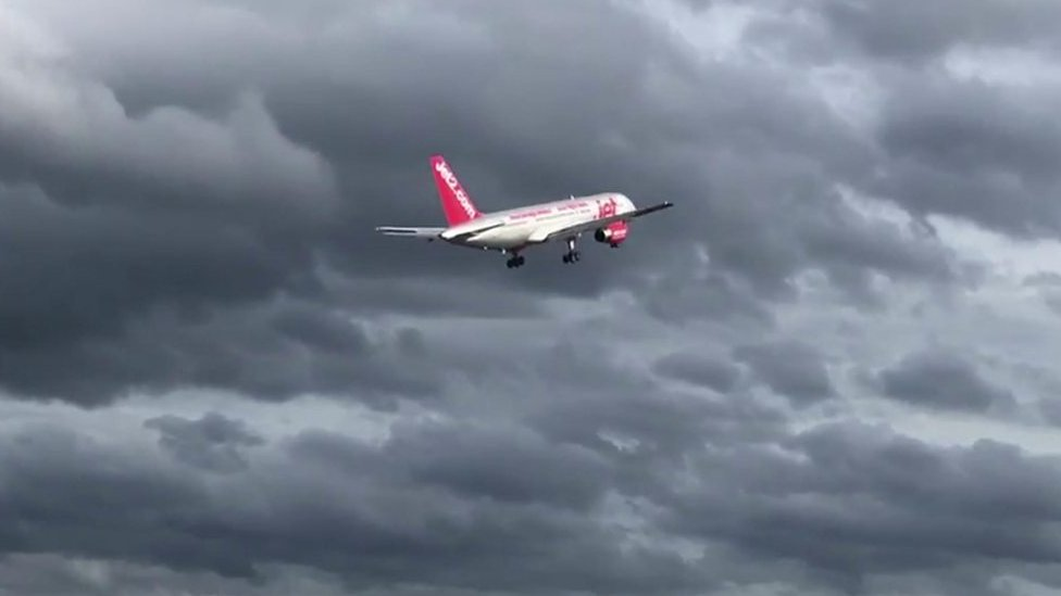 Jet2 plane aborts Leeds Bradford Airport landing due to wind