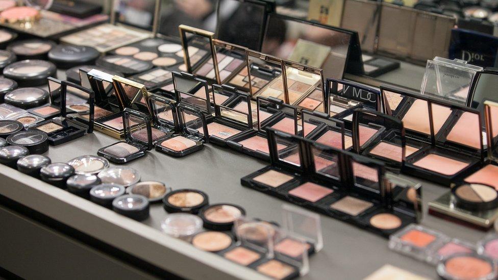 Productos de maquillaje.