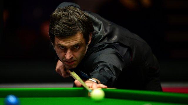 Ronnie O'Sullivan at the 2016 Masters