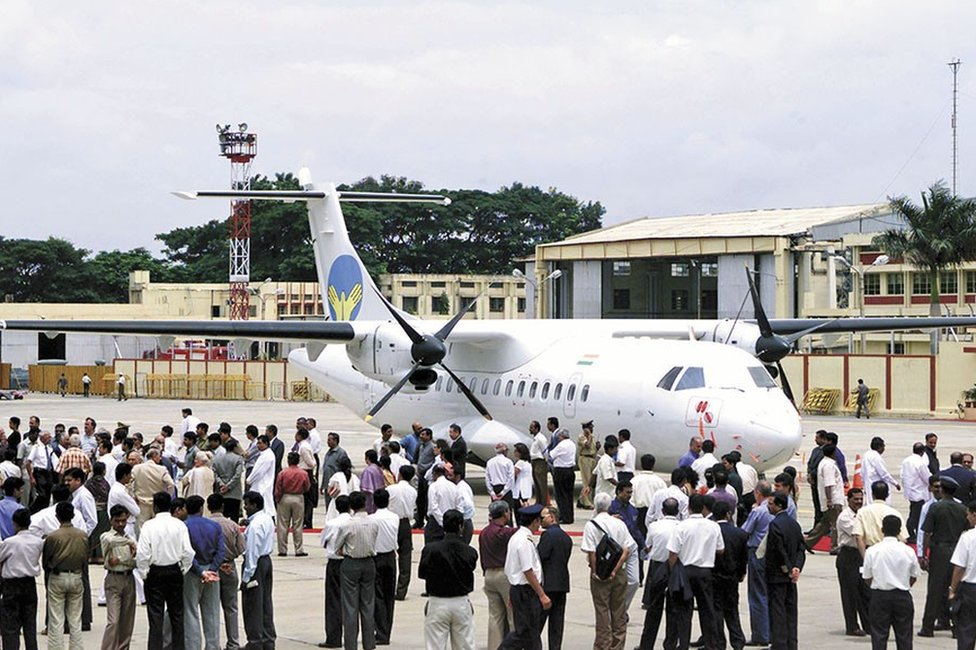 Air Deccan used a 48-seater ATR for its first commercial flight in August 2003
