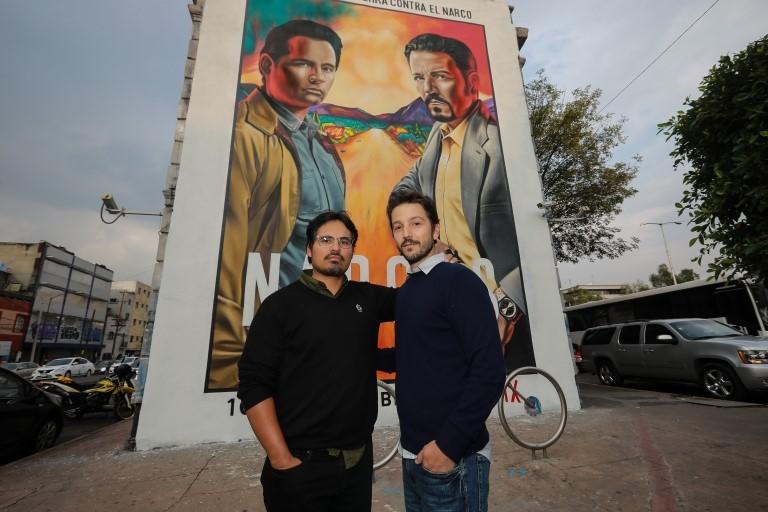 Los actores Michel Peña y Diego Luna
