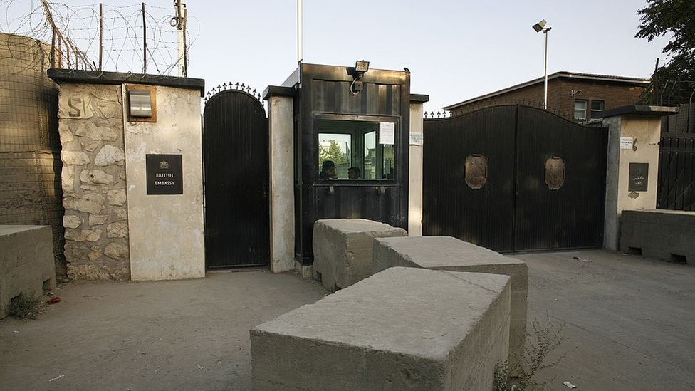 British embassy site in Kabul
