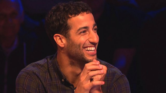 Red Bull Formula 1 driver Daniel Ricciardo during his appearance on A Question of Sport