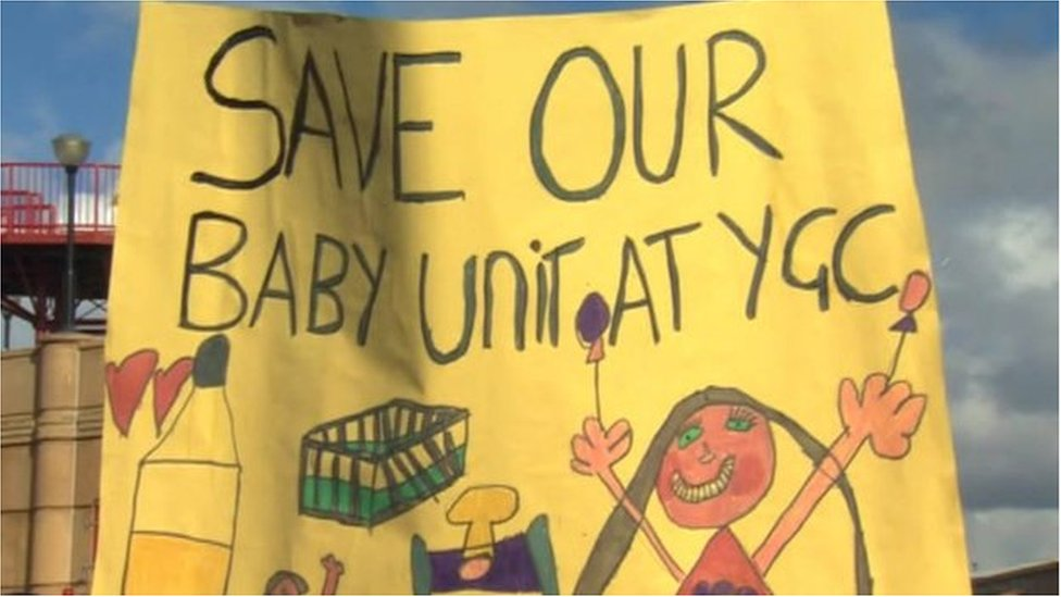 Maternity care protest poster