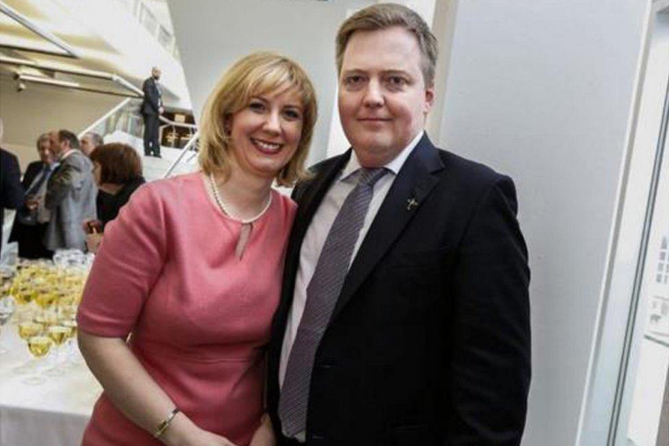 Sigmundur Gunnlaugsson and his wife Anna Sigurlaug Palsdottir