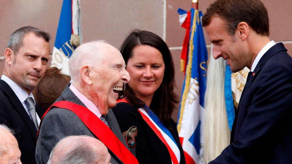 Cordier with President Emmanuel Macron, June 2018