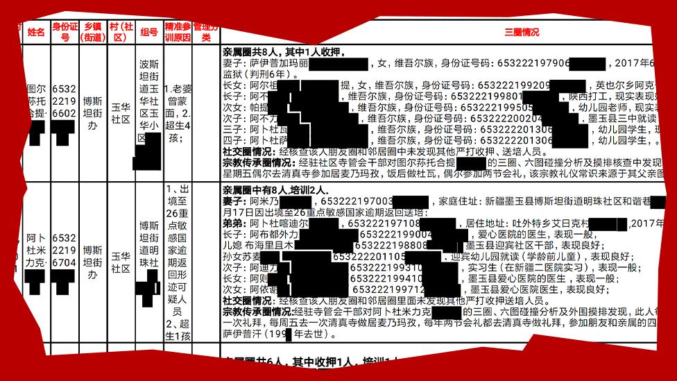 الوثيقة التي تضمّ قائمة كاراككس