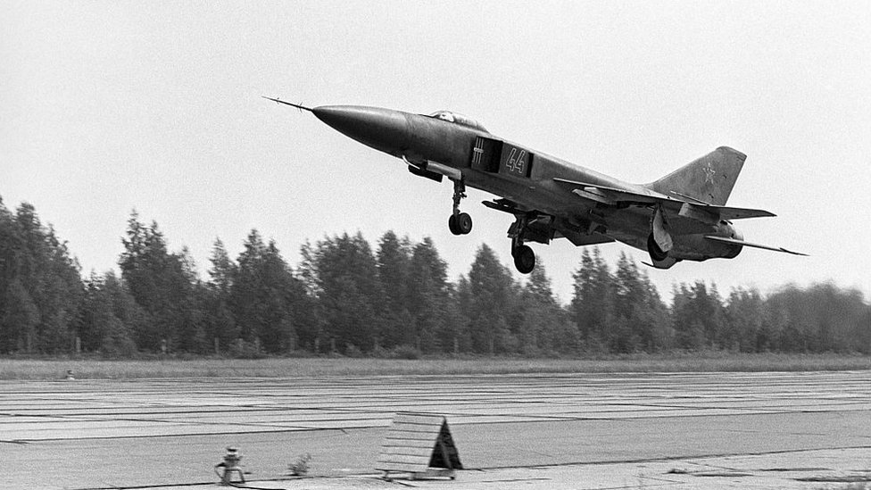 Mig 23 soviético.