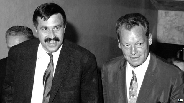 Guenter Grass and Willy Brandt in 1965