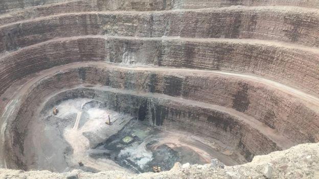 Rus Alrosa şirketinin Sibirya'daki elmas madenlerinden biri