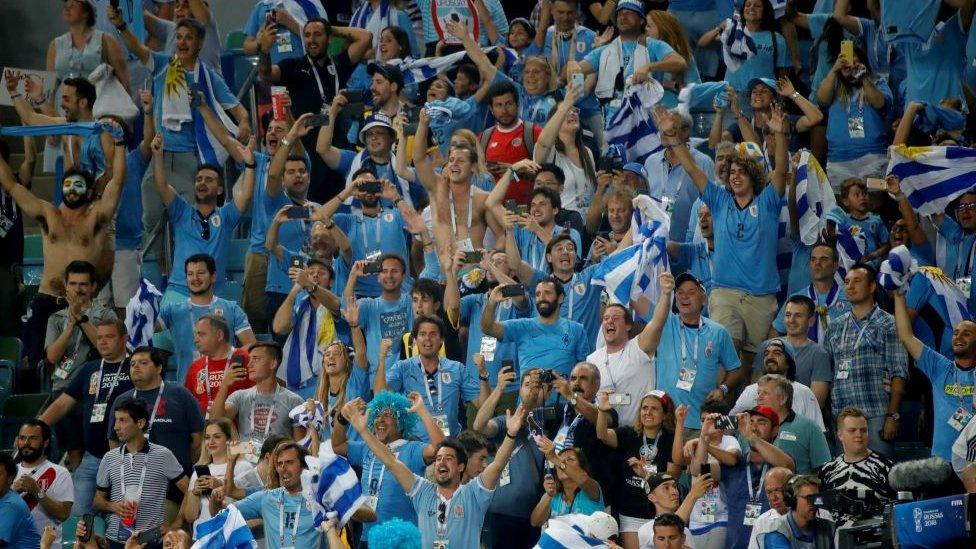 Los uruguayos vienen de celebrar la eliminación de Portugal en octavos.