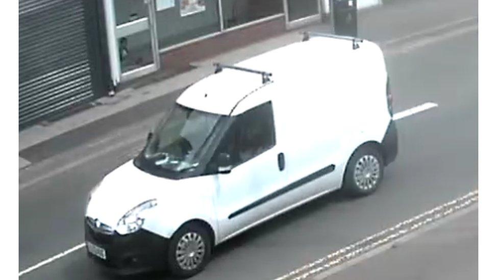 CCTV still of Stirling's van