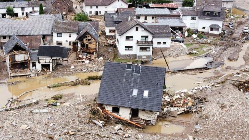 فيضان في بلدة شولد الألمانية