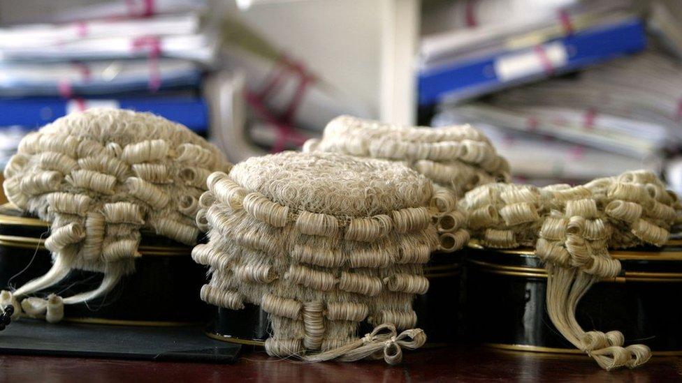 Judge wigs in a row