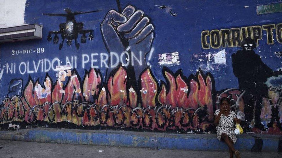 Grafiti sobre invasión, 2019