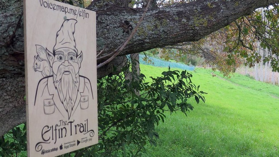 Sign for Elfin Trail