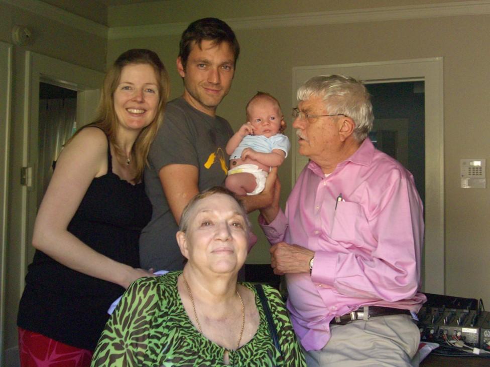 La familia de vuelta en Texas.