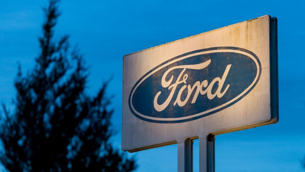 The Ford sign in Bridgend