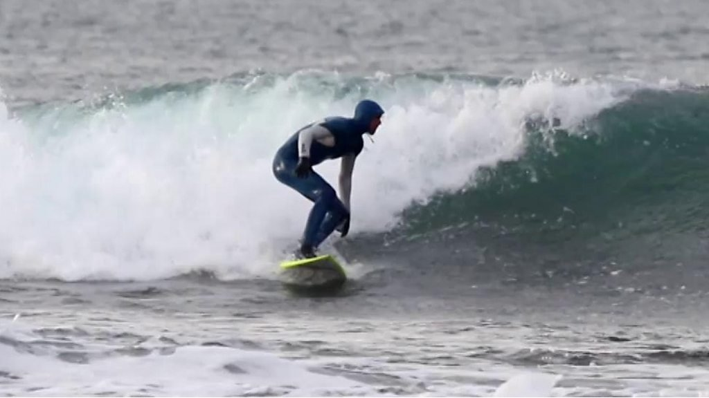 Scottish surfing champion's Olympic hopes