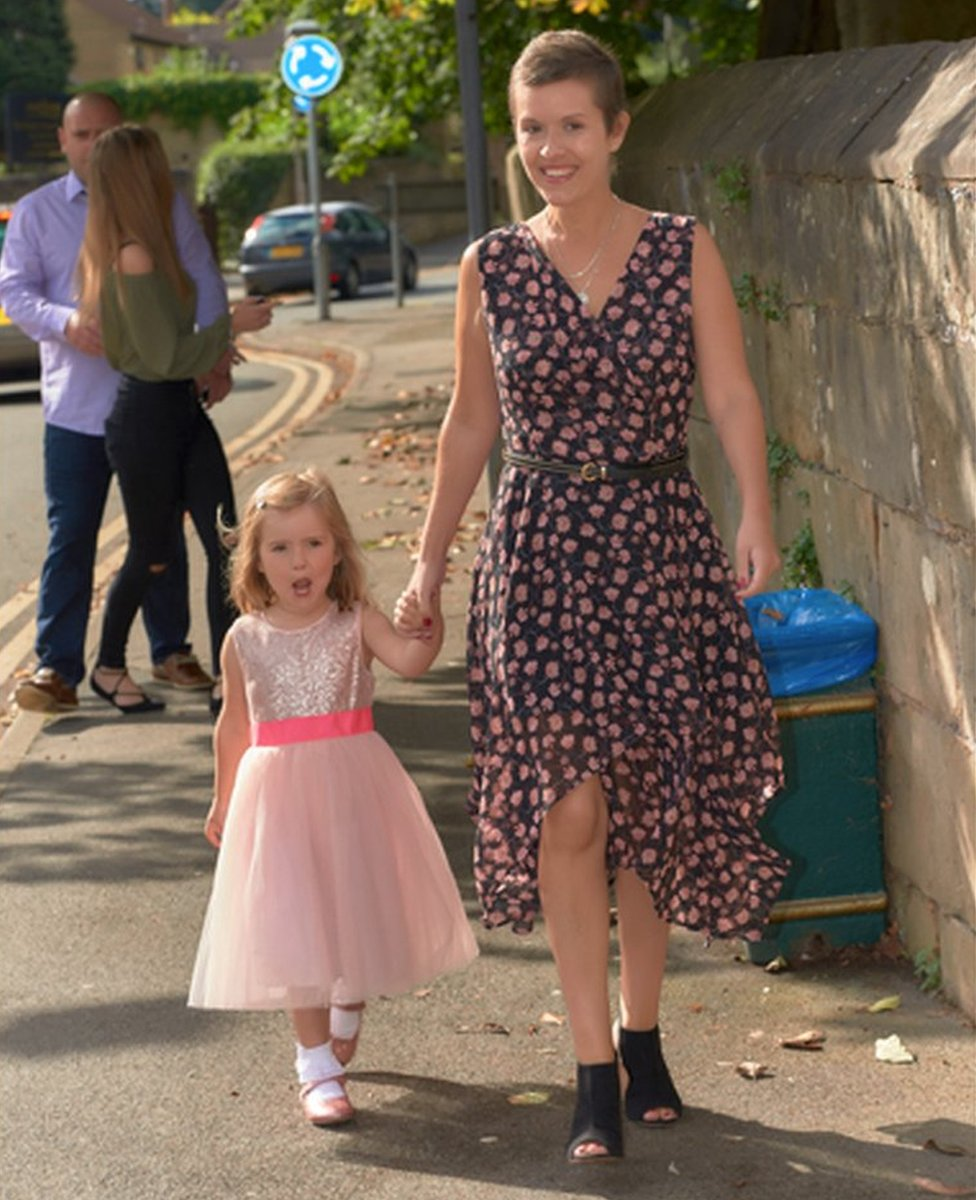Liz and her daughter Olivia in August last year, 17 days after her terminal diagnosis
