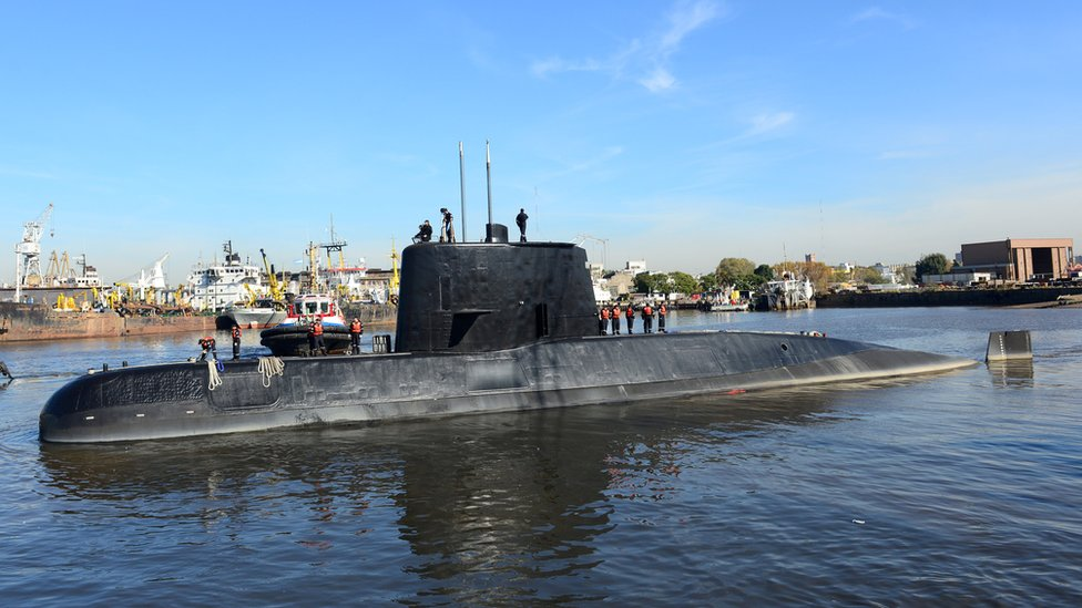 The Argentine military submarine ARA San Juan