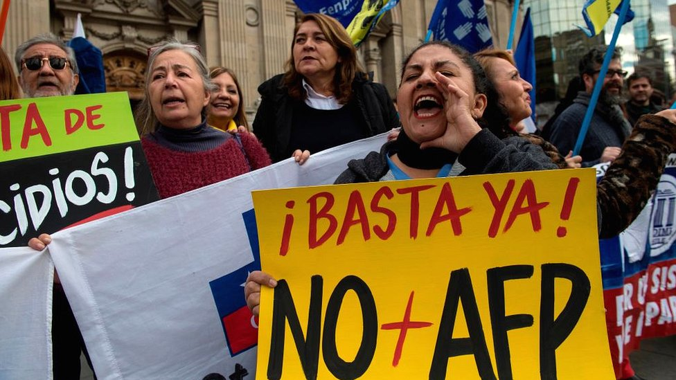 Protesta en Santiago