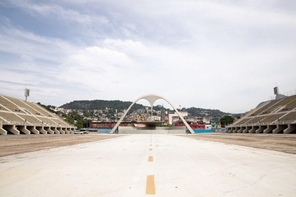 View of the empty Sambadrome