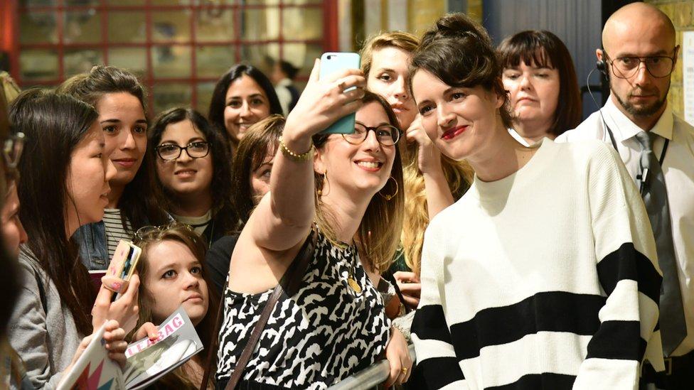 Phoebe Waller-Bridge meeting fans