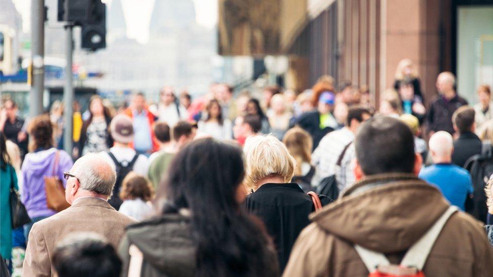 People walking in Edinburgh