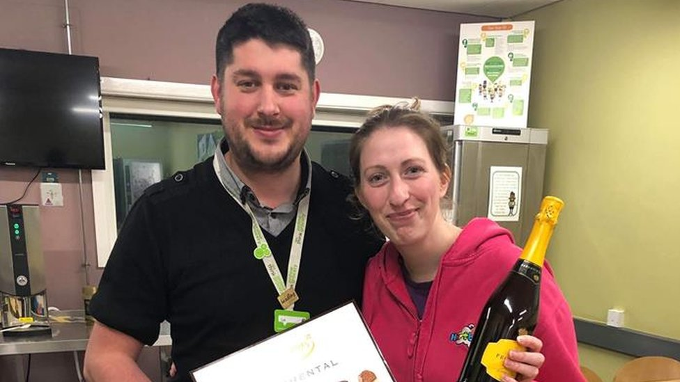 Asda store manager Lee and Jess Creasey